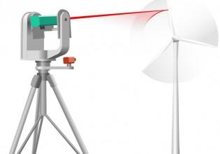 Laser volgt windturbines