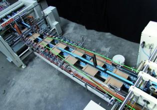 Vouw-plak-machine van JD Engineers