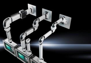 Rittal garandeert standaard een automatische potentiaalvereffening via het gehele draagarmsysteem.