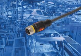 Rechte connector van Turck met led