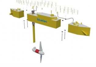 drijvend platform bij Texel