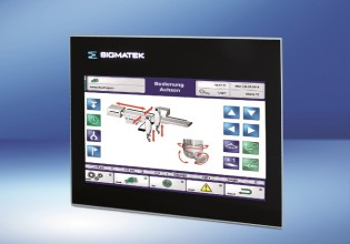 """Met de ETT 732 introduceert Sigmatek een modern bedieningspaneel met 7 """" wilde screen display en dual-touch functie."""