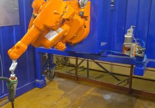 Lasrobot van RobWelding op brug