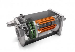 Borstelloze DC motor van Kolmer