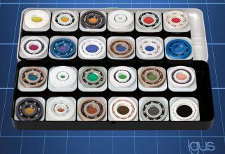 Door de combinatie van verschillende ring-, bal- en kooimaterialen, krijgt een gebruiker zijn unieke, passende groefkogellagers (foto: igus)