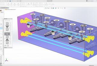 SolidWorks 2017 kan het ontwerpproces versnellen met nieuwe tools voor 'Chamfer', 'Fillet' en 'Advanced Hole Specification'. Handig voor bijvoorbeeld manifolds (foto's: Solidworks)