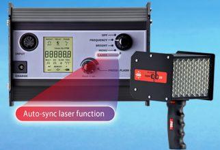 Het unieke van de Auto-sync functie is de integratie van de laserunit in strobe (foto: Adparts).
