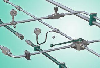 Het programma 'Stauff Line' omvat alle componenten voor hydraulische leidingystemen van één producent, desgewenst voorgemonteerd als module