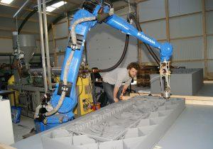 boot in 3D print met robot