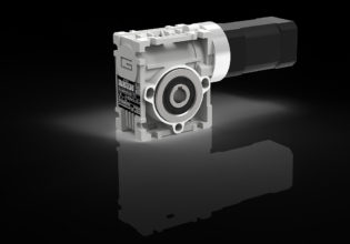 wormwielreductor met NEMA-flens