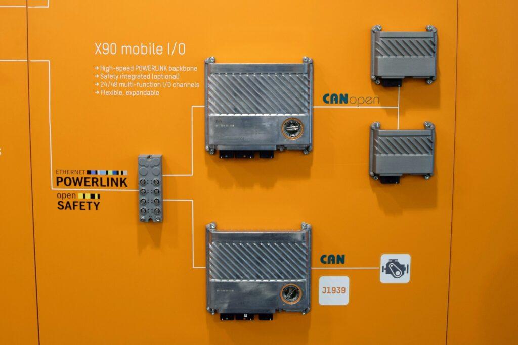 B&R mobiele machines besturing X90 open safety Bauma