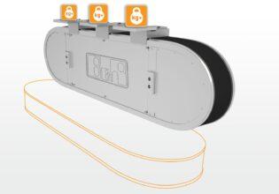 B&R Supertrak vertical mounting