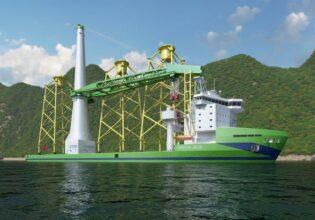 Huisman offshore mastkraan voor Green Jade