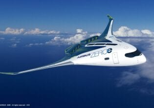 Airbus concept waterstof blended wing body