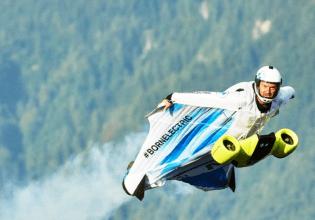 Peter Salzmann wingsuit BMW i